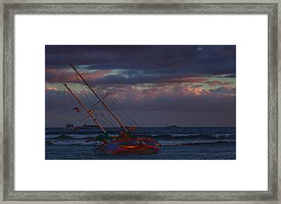 Shipwrecked Framed Print by James Roemmling