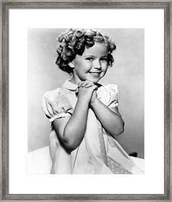 Shirley Temple, 1936 Framed Print by Everett