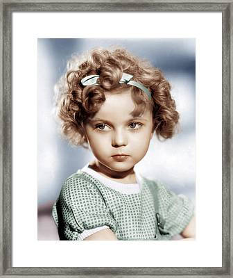 Shirley Temple, Ca. 1934 Framed Print by Everett