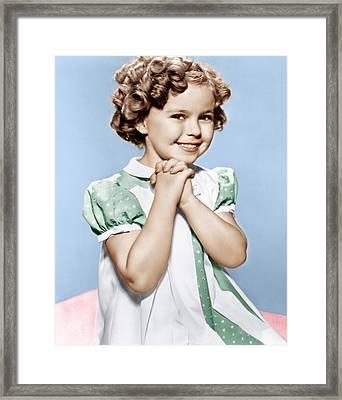 Shirley Temple, Ca. 1936 Framed Print by Everett