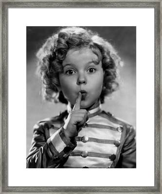 Shirley Temple Framed Print by Everett