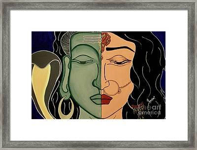 Shiv-shakti Framed Print by Meenakshi Malhotra