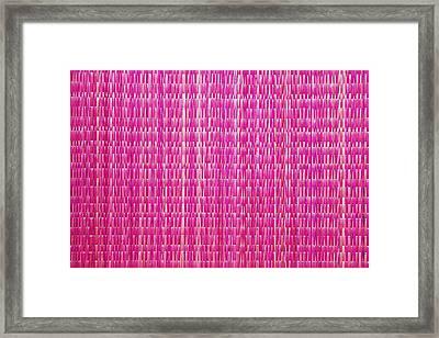 Shocking Pink Woven Raffia Framed Print by Kantilal Patel