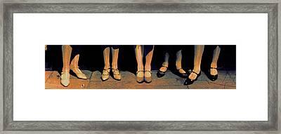 Shoe Parade Framed Print by Li   van Saathoff