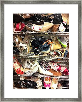 Shoe Sale Framed Print by Donna Blackhall