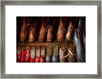 Shoemaker - Shoes Worn In Life Framed Print by Mike Savad