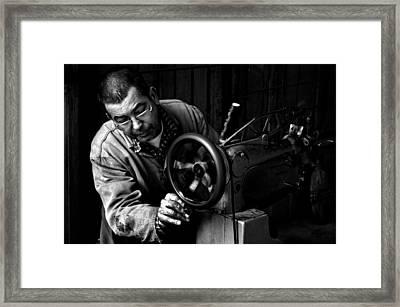 Shoemaker Framed Print by Ilker Goksen