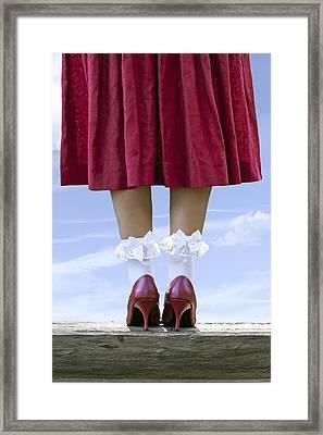 Shoes On Wooden Board Framed Print by Joana Kruse