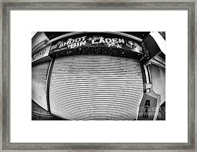 Shoot Bin Laden Framed Print by John Rizzuto