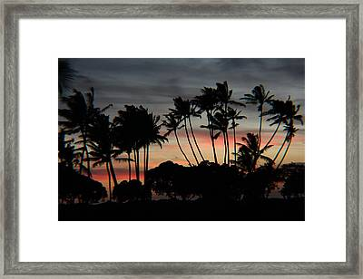 Shooting The Sunset Framed Print by Raquel Amaral