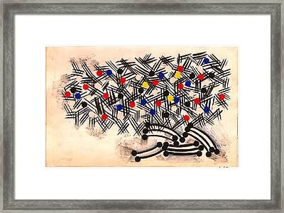 Supermarket Cart Late Night Shopping Framed Print by Al Goldfarb