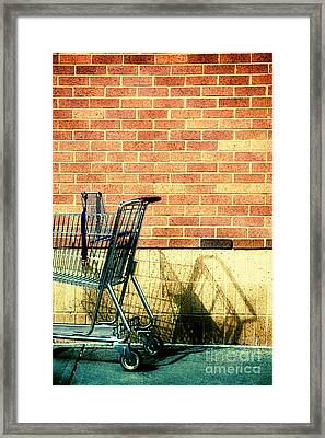 Shopping Cart Framed Print featuring the photograph Shopping Cart by HD Connelly