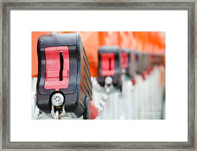 Shopping Cart Framed Print featuring the photograph Shopping Carts Locks by Mats Silvan