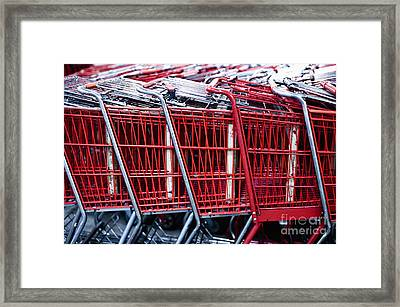Shopping Cart Framed Print featuring the photograph Shopping Carts by Sam Bloomberg-rissman