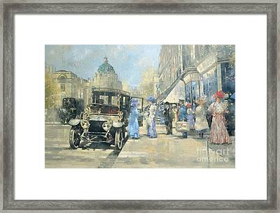 Shopping In Style Framed Print by Peter Miller
