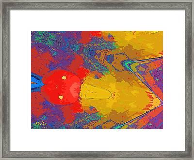 Shot Through The Heart Framed Print by Alec Drake