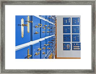 Showroom With Various Brass Framed Print by Corepics