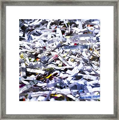 Shredded Documents Framed Print by Kevin Curtis