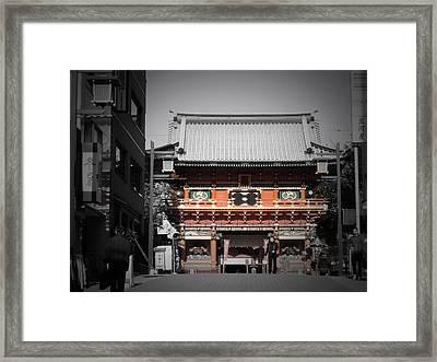 Shrine In Tokyo Framed Print by Naxart Studio