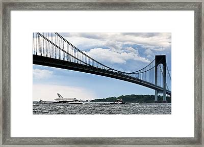 Shuttle Enterprise Framed Print by Roni Chastain