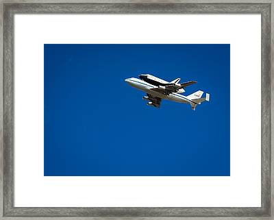 Shuttle Enterprise Through A Clear Sky Framed Print by Anthony S Torres