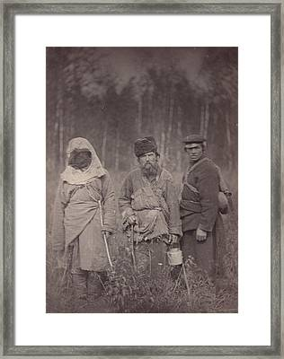 Siberia, Three Escaped Convicts Framed Print by Everett