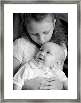 Sibling Love Framed Print by Lisa Phillips