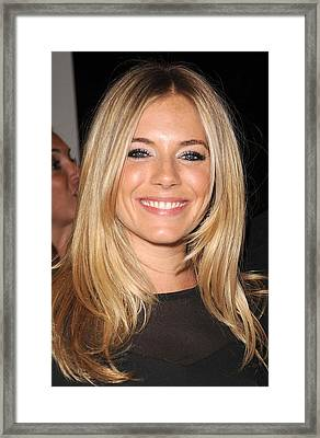 Sienna Miller, At Intermix At In-store Framed Print by Everett