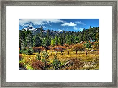 Sierra Nevada Fall Majesty Framed Print by Scott McGuire