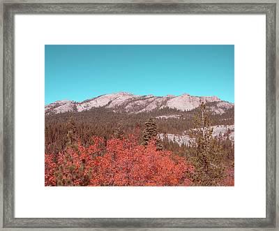 Sierra Nevada Mountain Framed Print by Naxart Studio