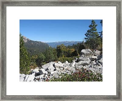 Sierra Nevada Mountains 1 Framed Print by Naxart Studio