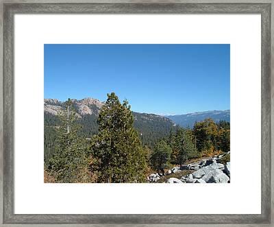 Sierra Nevada Mountains 2 Framed Print by Naxart Studio
