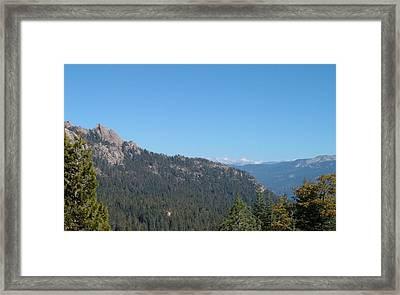 Sierra Nevada Mountains 3 Framed Print by Naxart Studio