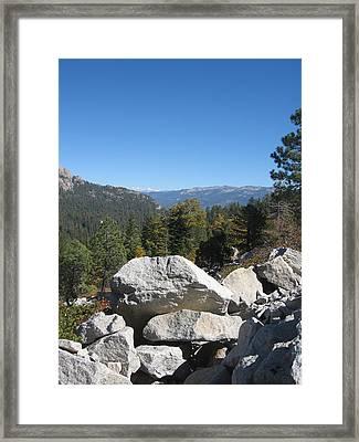 Sierra Nevada Mountains 4 Framed Print by Naxart Studio