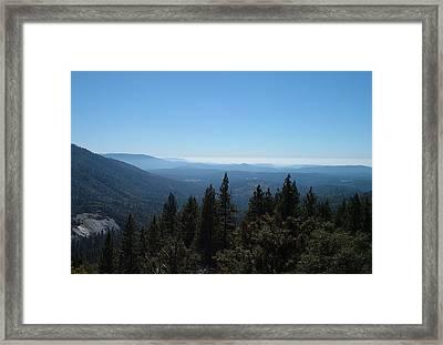 Sierra Nevada Mountains Framed Print by Naxart Studio
