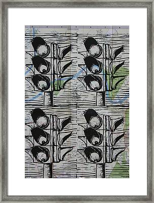 Siganls On Map Framed Print by William Cauthern