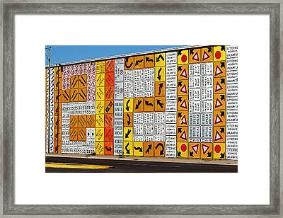 Signs And More Signs Framed Print by Phyllis Denton