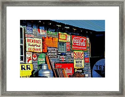 Signs Framed Print by Mike Flynn