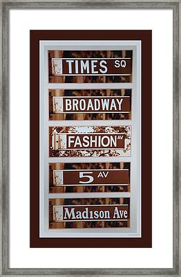 Signs Of New York Framed Print by Rob Hans