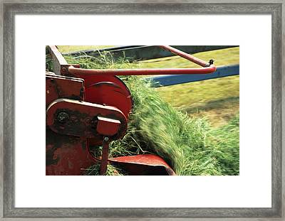 Silage Making Framed Print by David Aubrey