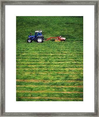 Silage Making, Ireland Framed Print by The Irish Image Collection