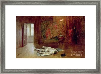 Silenced Framed Print by John Seymour Lucas