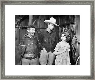 Silent Film: Cowboys Framed Print by Granger