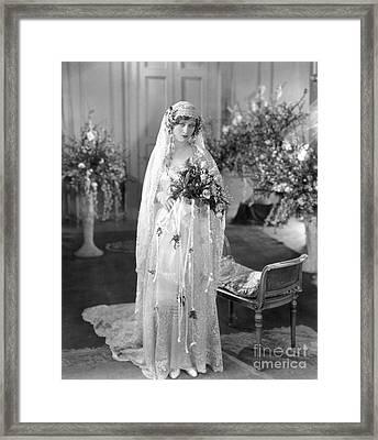 Silent Film: Wedding Framed Print by Granger