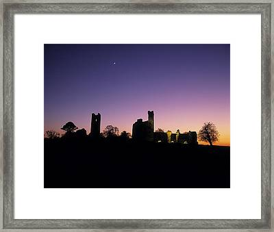 Silhouette Of St. Patricks Church And A Framed Print by The Irish Image Collection