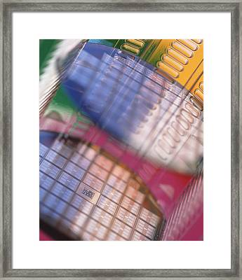Silicon Wafers Framed Print by Chris Knapton
