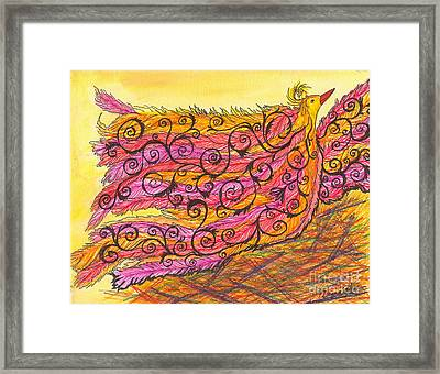 Silly Bird Stuck In The Details Framed Print by Denise Hoag