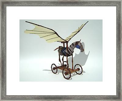 Silly Heart Framed Print by Jim Casey