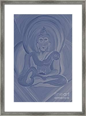 Silver Buddha Framed Print by First Star Art