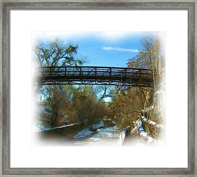 Silver City Big Ditch In Winter Framed Print by FeVa  Fotos